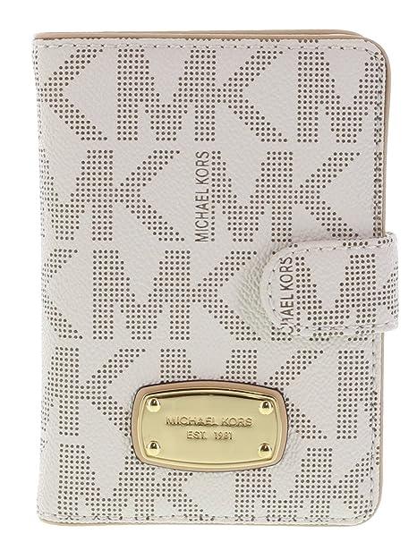 525d76cbce42 MICHAEL Michael Kors Passport Case MK Signature PVC