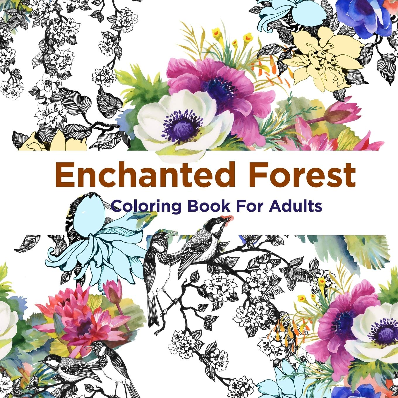 - Amazon.com: Enchanted Forest Coloring Book For Adults: Over 50