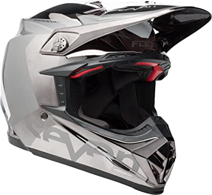 classic fit super quality new appearance Bell Moto-9 Flex Off-Road Motorcycle Helmet (Seven Rogue Black/Chrome,  Large)