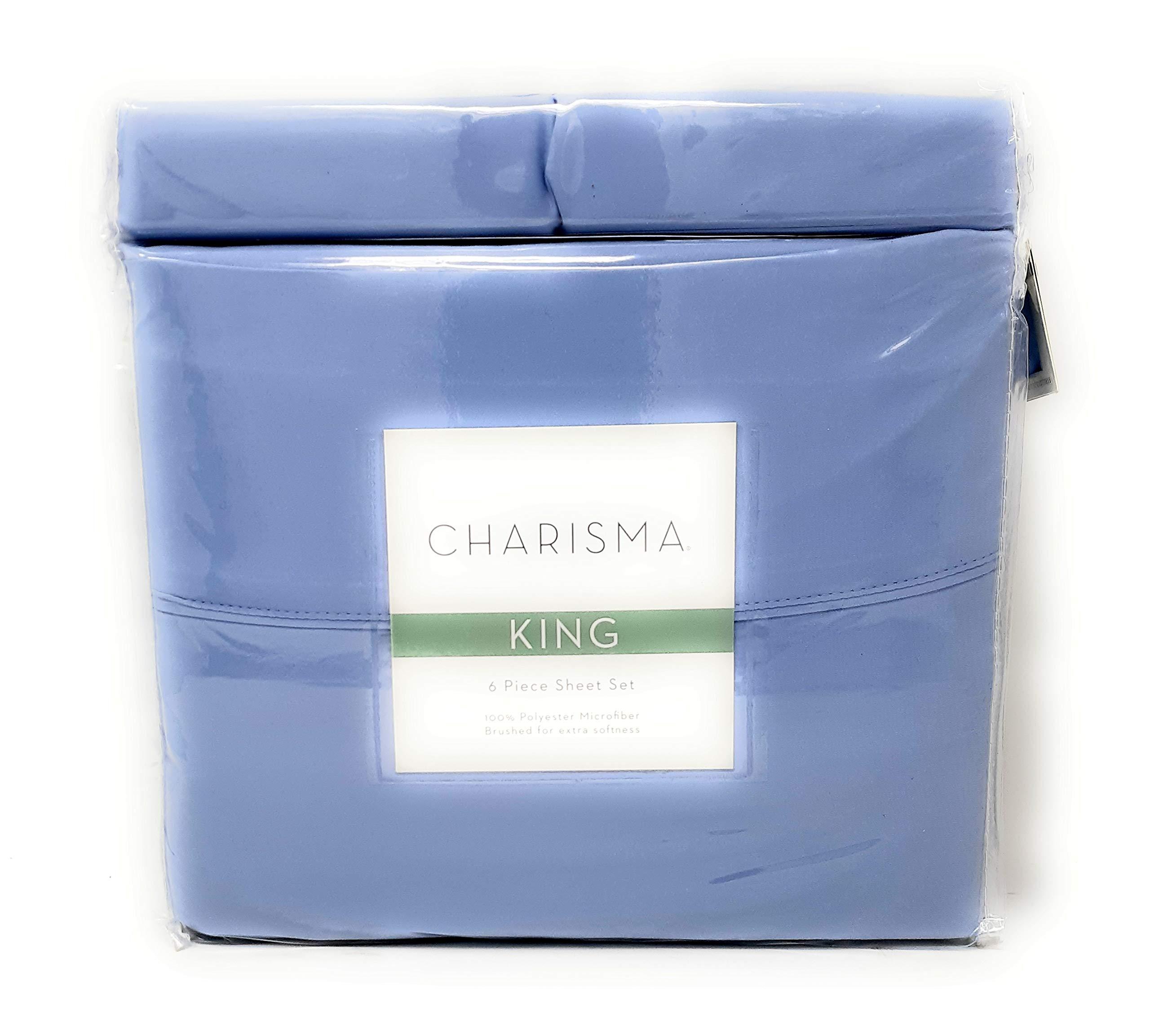HGCharisma Charisma Microfiber 6 Piece Sheet Set (Glacier), King