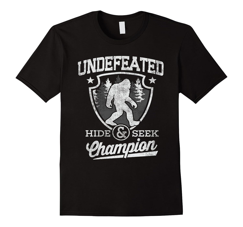 79a54da78 Bigfoot T-shirt Undefeated Hide & Seek Sasquatch Yeti Gift-BN ...