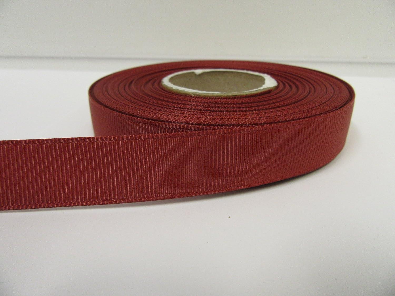 Beautiful Ribbon 2 metres di 16 millimetri del grosgrain Ruggine marrone scuro doppia faccia 16mm 16 mm
