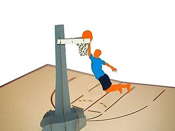 PaperKraft equipo de baloncesto Pop Up Tarjeta de felicitación ...