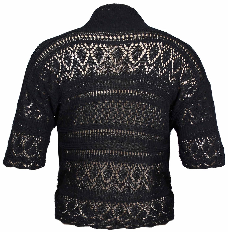 Purplehanger Womens Plus Size Crochet Shrug Bolero Open Cardigan At
