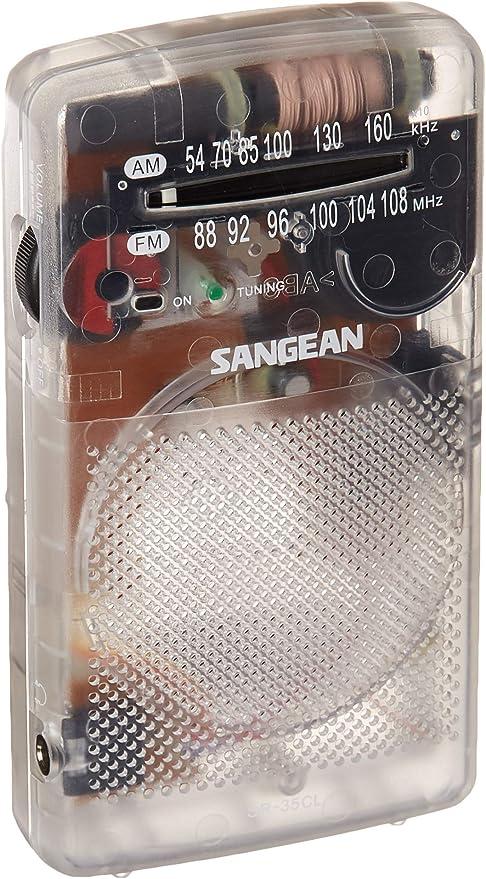 Rádio Sangean SR-35CL AM/FM Novidade Bolso Transparente por Sangean