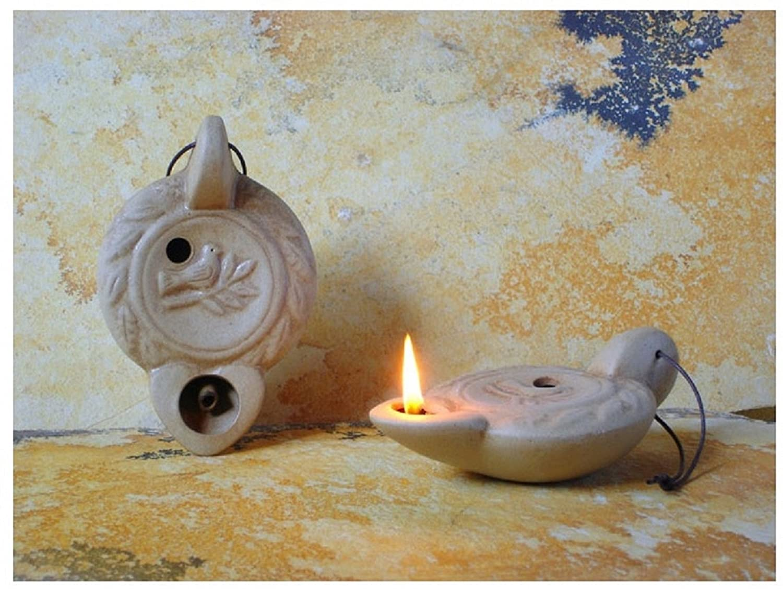 Lampade Ad Olio Per Esterni : Lampada ad olio in ceramica antico disegno fiamma beige