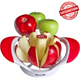 Apple Slicer and Corer by B-Chef, This Stylish Fruit Divider Will Slice and core your favourite apple into 8 equal slices, Its Dishwasher Safe and Comes in Striking White & Red.