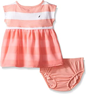Nautica Baby Girls' Printed Rugby Stripe Dress