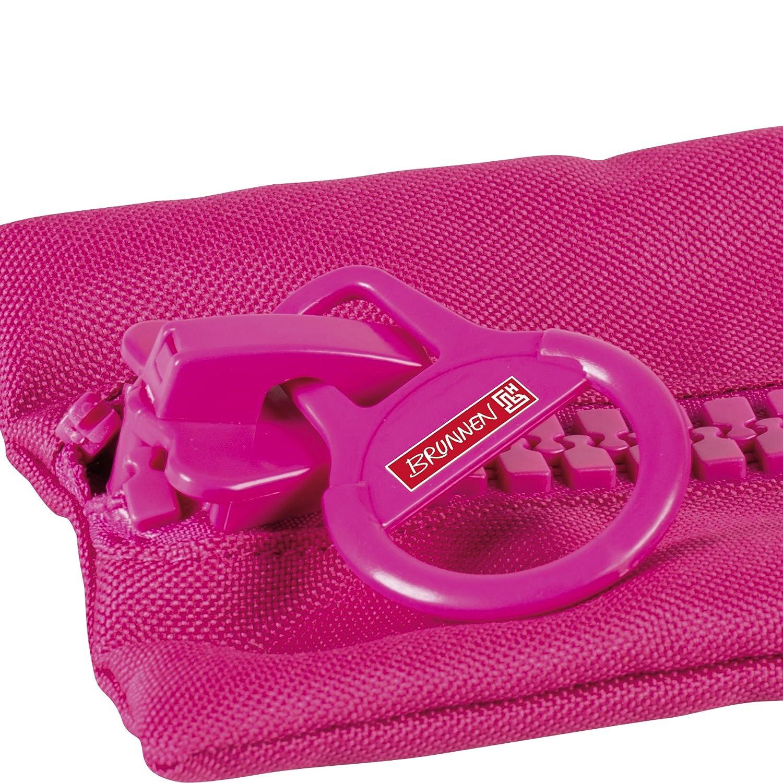 rose Brunnen 104903126 plusieurs passants pour stylos big zip colour code trousse d/écolier en nylon 5 x 230 x 120 mm