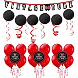 Party City Vintage Dude 50th Birthday Decorating Kit With Balloons 37 Pieces Includes Decorations