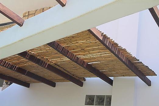 HAPPERS Valla jardín BAMBÚ Natural, Rollo cañas bambú ocultación jardín, terraza y balcón, o decoración terraza de 100cm x 200cm: Amazon.es: Jardín