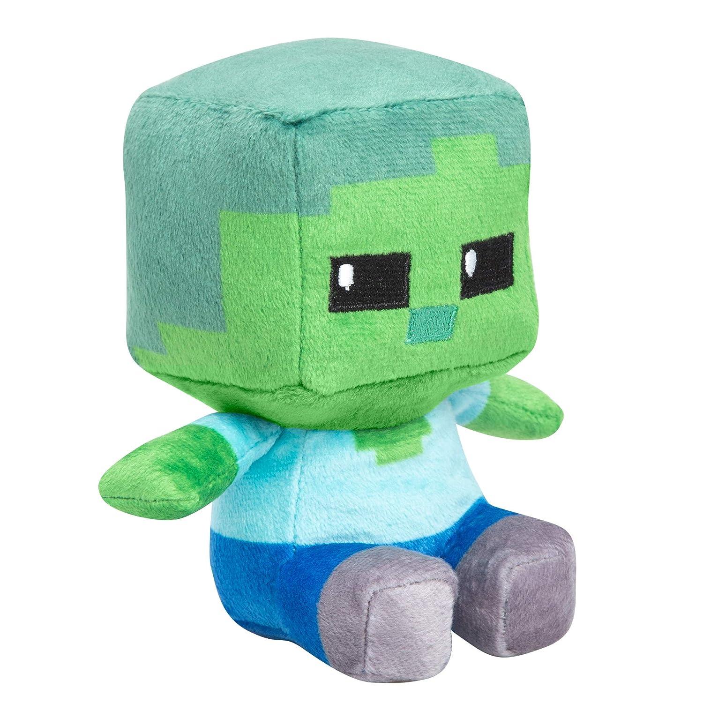 JINX Minecraft Mini Crafter Zombie Plush Stuffed Toy, Green, 4.5