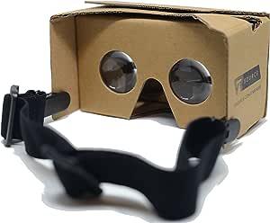 Google Cardboard VR Headset Goggles V2 (Cardboard Brown)