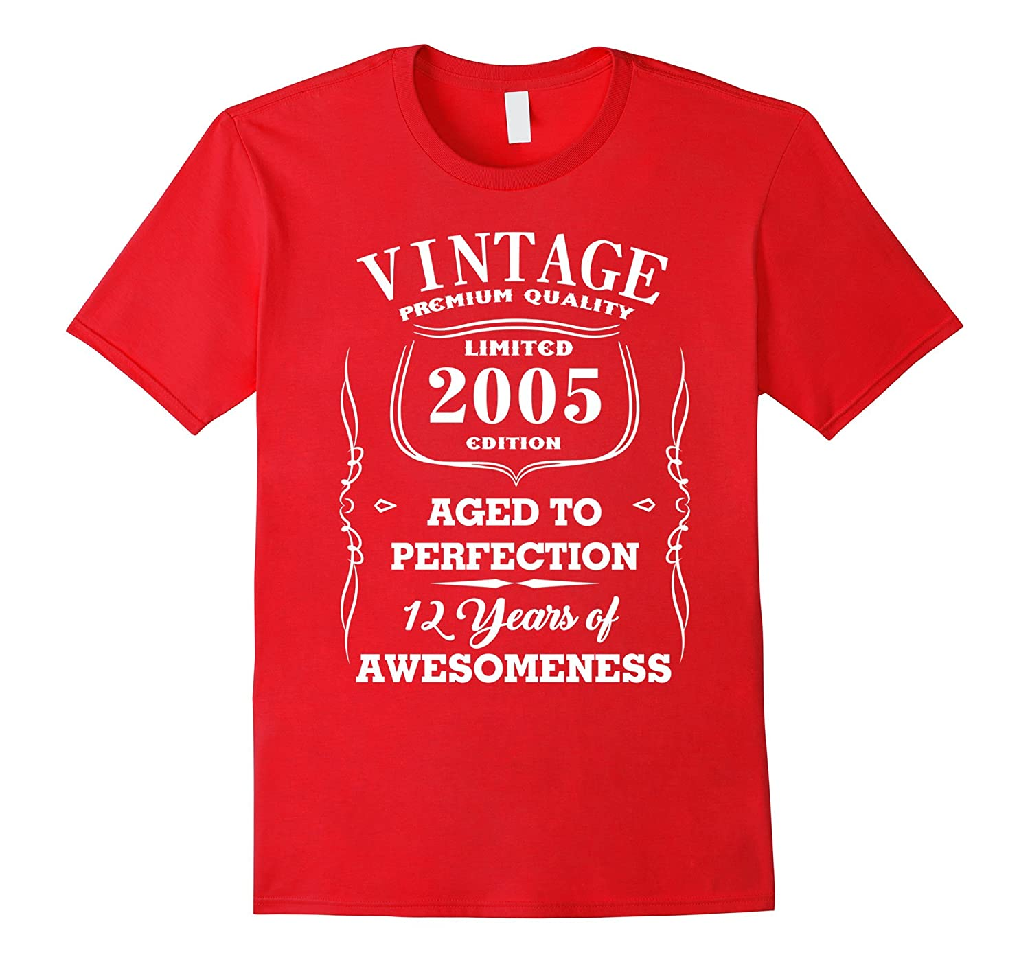 12th Birthday Gift Vintage Made In 2005 Awesome T-Shirt-CD