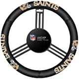 Fremont Die NFL New Orleans Saints Leather Steering Wheel Cover