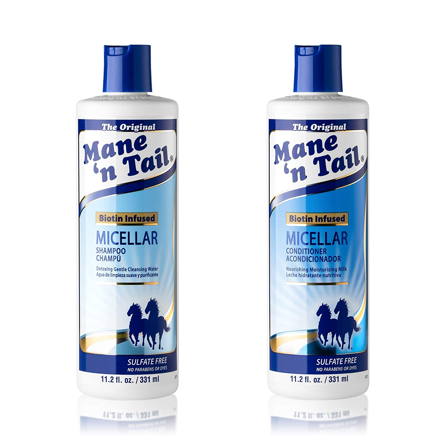Amazon Com Mane N Tail Micellar Sulfate Free Shampoo And Conditioner Biotin Infused 11 2 Ounce Each Beauty