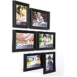 AJANTA ROYAL Collage Photo Frames (Set of 6, Wall Hanging) A-153 (Black(AP-120))