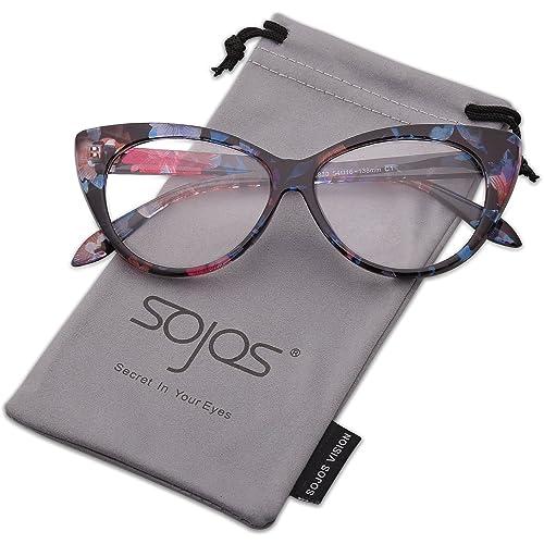 SOJOS Gafas De Sol Mujer Ojos de gato Ligero Clásico Vintage SJ2040