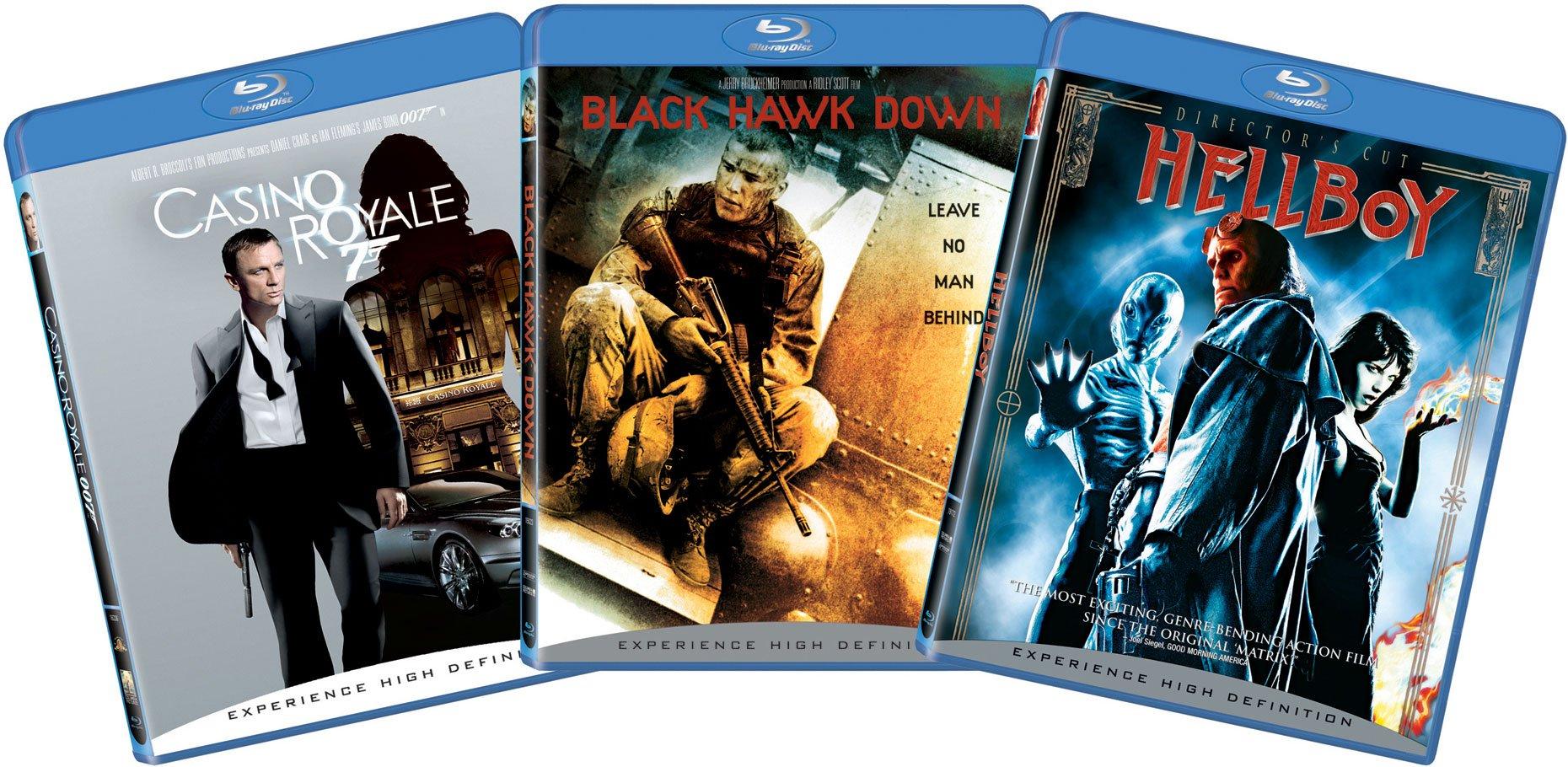 Blu-ray Action 3-pk Bundle (Casino Royale, Black Hawk Down, Hellboy)