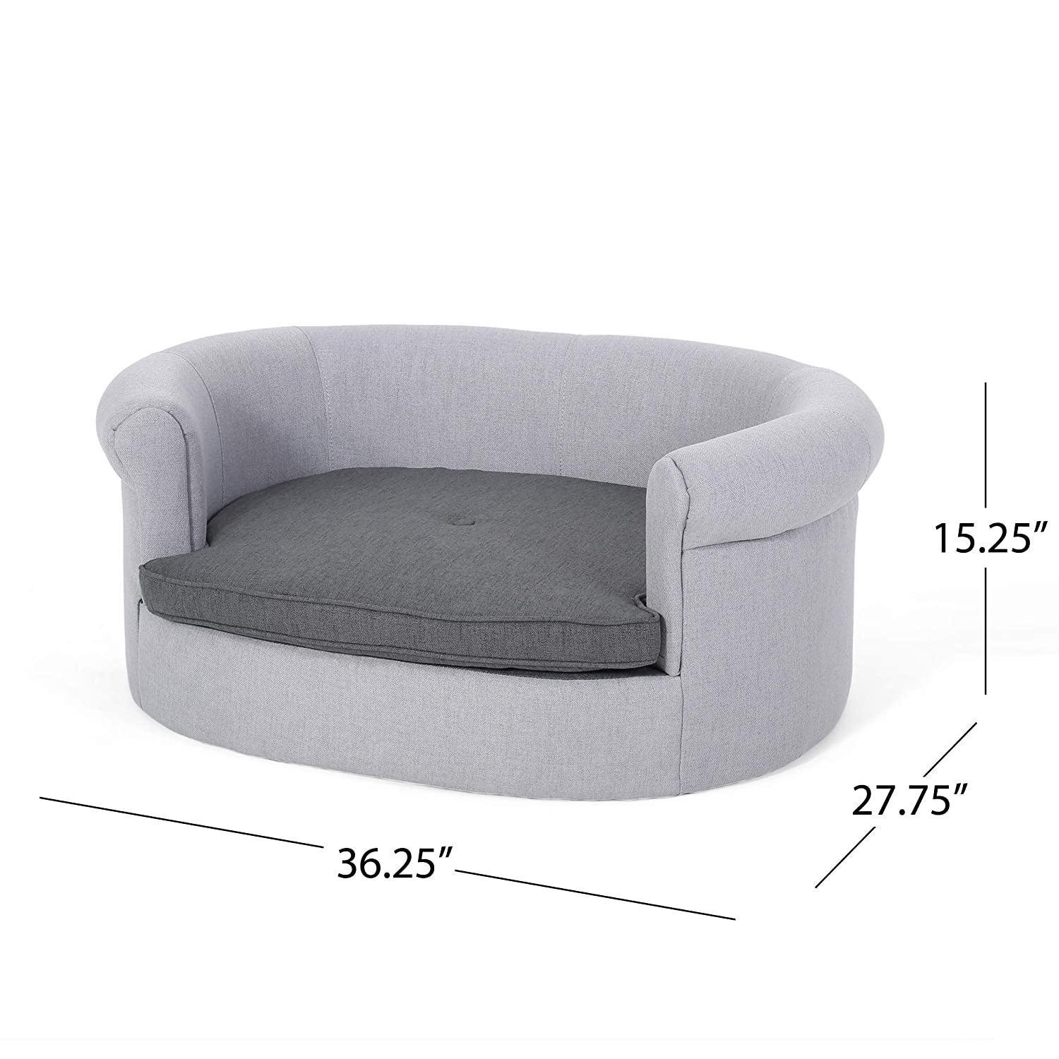 Amazon.com: Great Deal Furniture Setlla Oval Fabric Dog Sofa ...