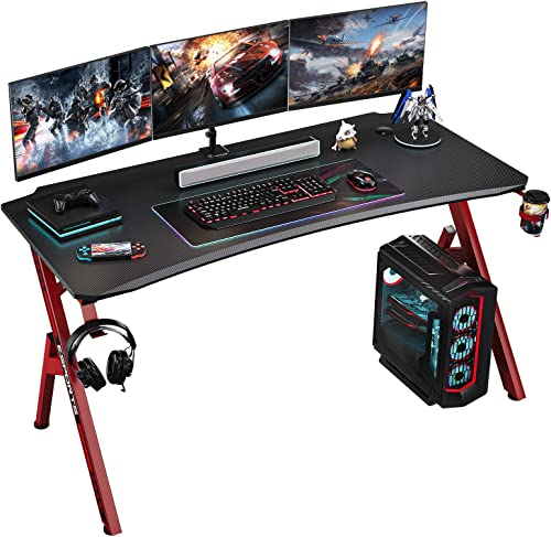 Foxemart Gaming Desk 55 inch PC Computer Desk Review