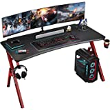 Foxemart Gaming Desk 47 inch PC Computer Desk, Home Office Desk Workstation, Professional Gaming Desk Table with Cup Holder &