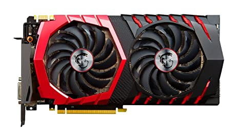 MSI GeForce GTX 1080 Gaming X+ 8G - Tarjeta gráfica (RAM de 8 GB, Interfaz de 256 bits, procesadores de Flujo 2560, Twin FROZR Vi, TORX Fan 2.0)