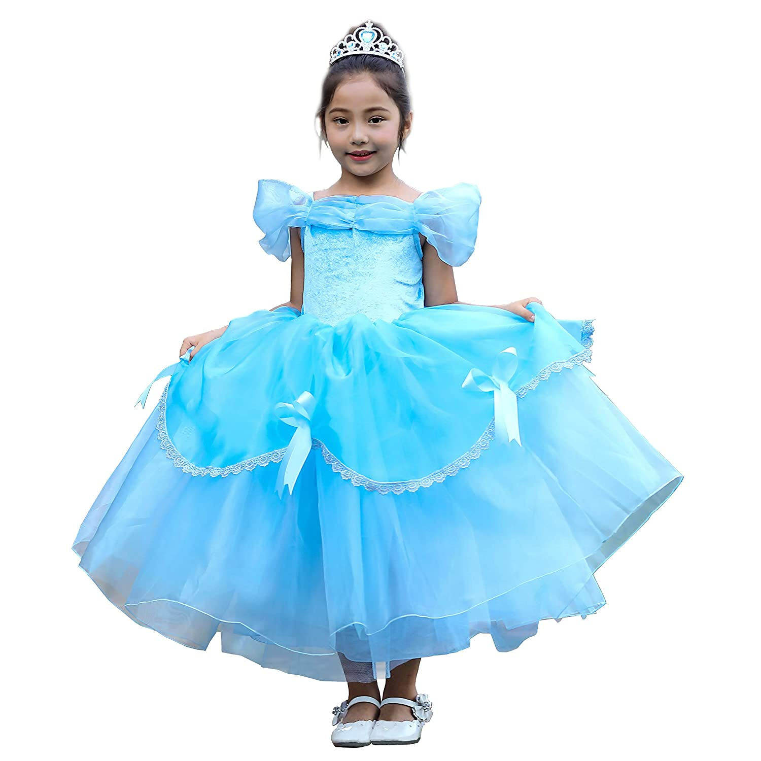 Dressy Daisy Girls Princess Belle Dress Up Costumes Halloween Fancy Party Dress
