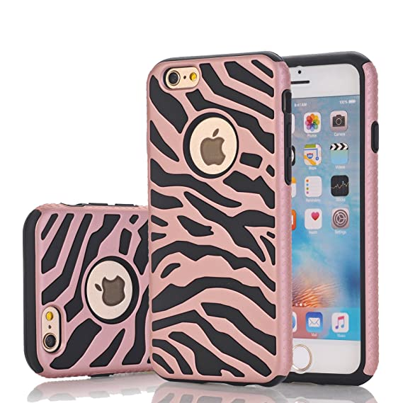 new style fe760 12ac2 iPhone 6s Case, Harsel Deluxe Fashion Zebra Print Heavy Duty Slim Fit  Shield Case Ultra Thin Armor Premium Shockproof Bumper Defender Dual Layer  Cover ...