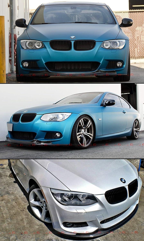 Fits for 2010-2013 BMW E92 E93 LCI 2 Door 325i 328i 335i ARK Style M Sport Carbon Fiber Front Bumper Lip Spoiler Splitter
