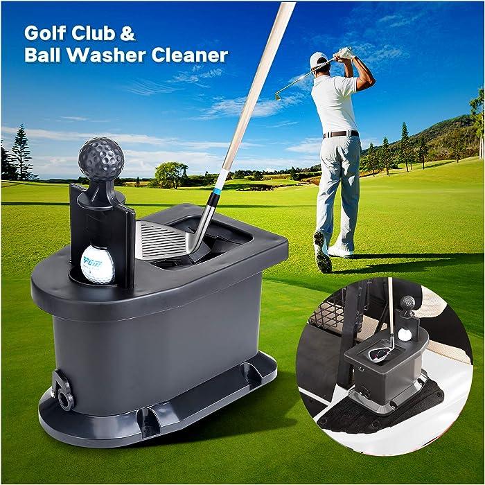 10L0L Universal Golf Ball Washer and Club Head Cleaner for Golf Cart EZGO, Club Car, Yamaha
