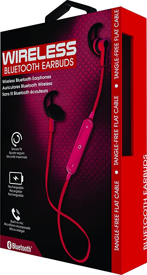 Amazon.com: Coby Wireless Bluetooth Headphones (CEBT406) (Red): Electronics