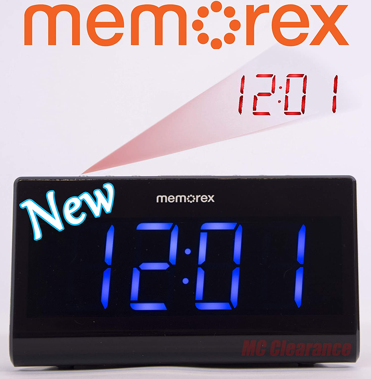 Amazon.com: Memorex MC0952 Projection 180° Flip with Focus Clock Double Alarm Radio: Home Audio & Theater