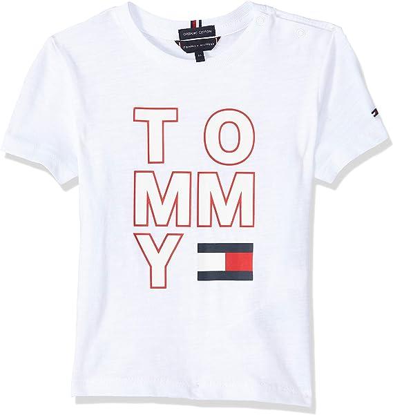 Tommy Hilfiger Camiseta Maxilogo Blanco Niño: Amazon.es: Ropa y accesorios