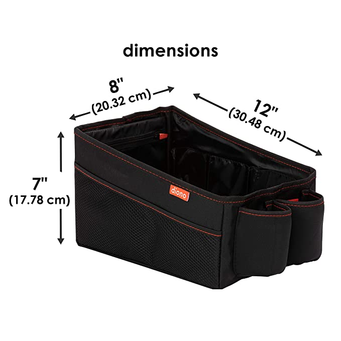 Features a Deep Storage Bin for Toys and Large Items Diono Travel Pal Car Storage Black