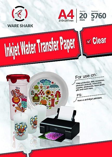 Ware - Papel adhesivo de tiburón para acuarela, perfecto ...