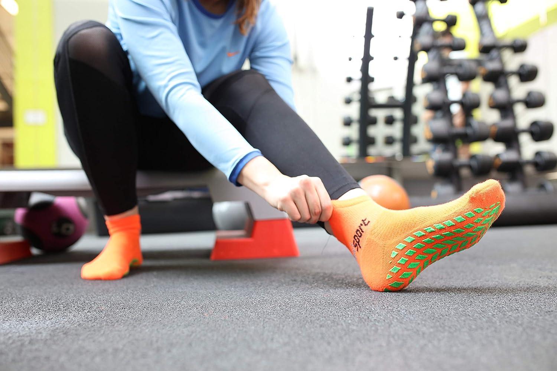 Donna Uomo Neon Calze Sportive Antiscivolo Rainbow Socks