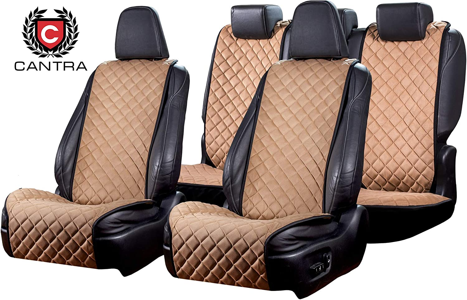 Light Brown Extra Durable /& Long Lasting Premium Car Seat Covers Full Set Comfortable Easy Installation Cantra Z-Model 100/% Hand Made of Quality Fabric Materials Universal Fit