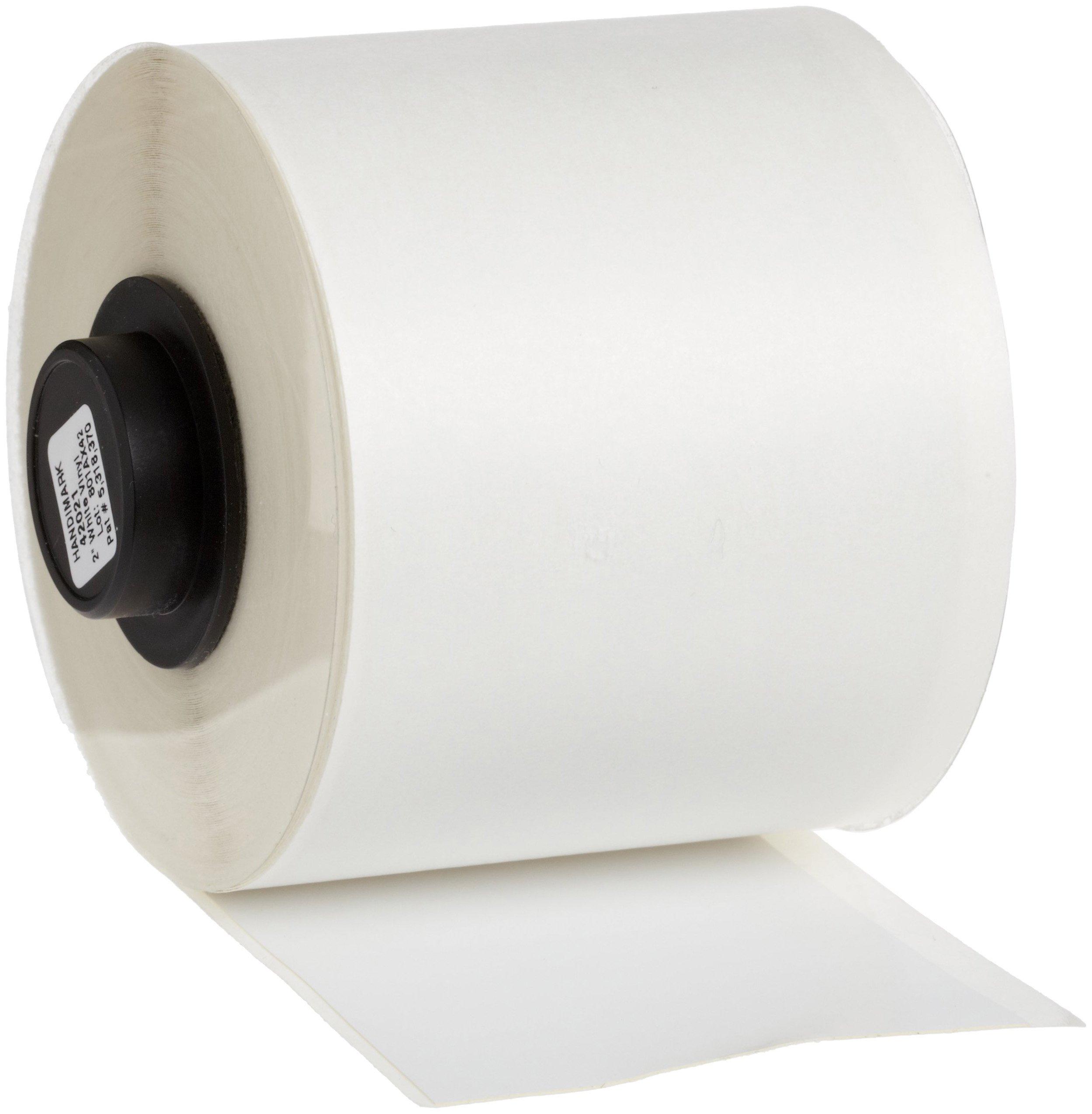 Brady 42021 HandiMark 50' Length 2'' Width, B-580 Vinyl Film, White Indoor/Outdoor Tape