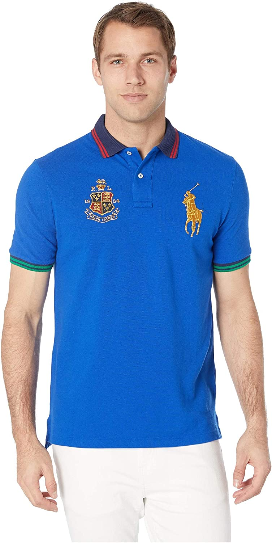 Polo Ralph Lauren Men's Classic-Fit Crest Logo Big Pony Polo Shirt Medium - Blue