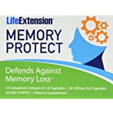 Life Extension Memory Protect, Powerful Dual Action Cognition and Memory Support, 12 Colostrinin-Lithium (C-Li) Capsules | 36 Lithium (Li) Capsules