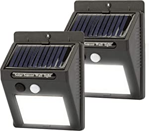 Solar Lights Outdoor,30 LED Wireless Motion Sensor Light,IPX5 Waterproof Wall Light,Security Light,Easy to Install,Suitable for Outdoor,Garden,Patio,Deck,Garage,Hallway,Fence(2 Pack)