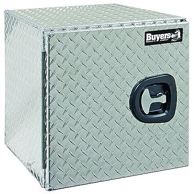 Buyers Products Diamond Tread Aluminum Underbody Truck Box w/Barn Door (18x18x30 Inch): Automotive