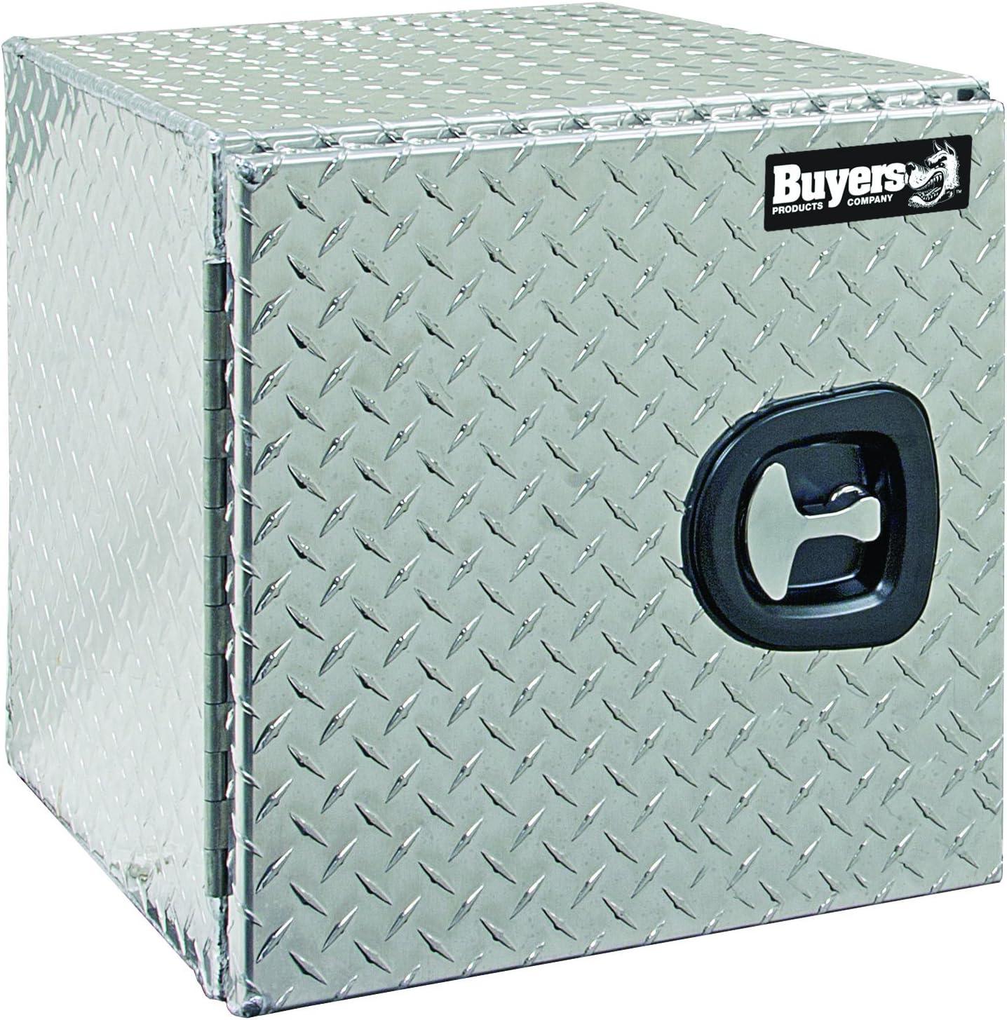 18x18x30 Inch Buyers Products Diamond Tread Aluminum Underbody Truck Box w// T-Handle Latch