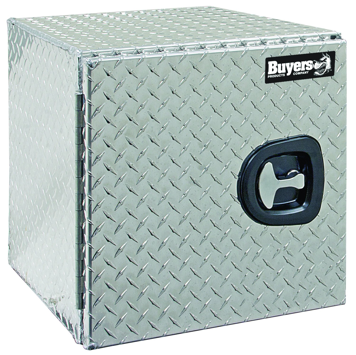 Buyers Products 1705200 Diamond Tread Aluminum Underbody Truck Box w/Barn Door (18x18x24 Inch)
