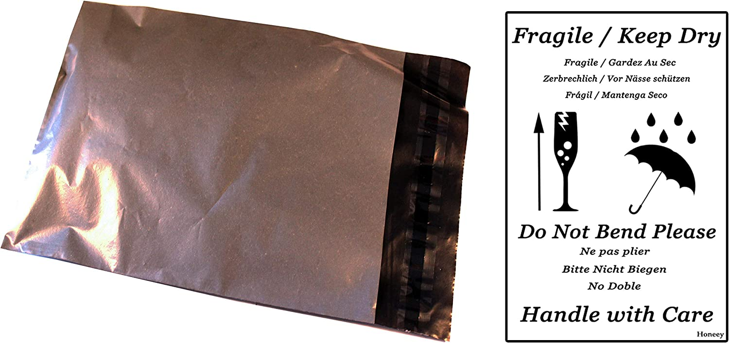 """25 GREY 6""""x9"""" A5 POLY MAIL POST BAGS UK SELLER QUALITY STRONG SELF SEAL"""