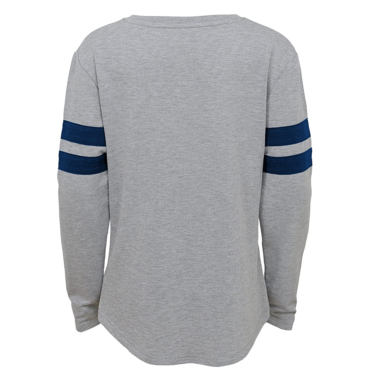Outerstuff NFL NFL Seattle Seahawks Youth Girls Field Armor Long Sleeve Dolman Tee Heather Grey 7-8 Youth Small