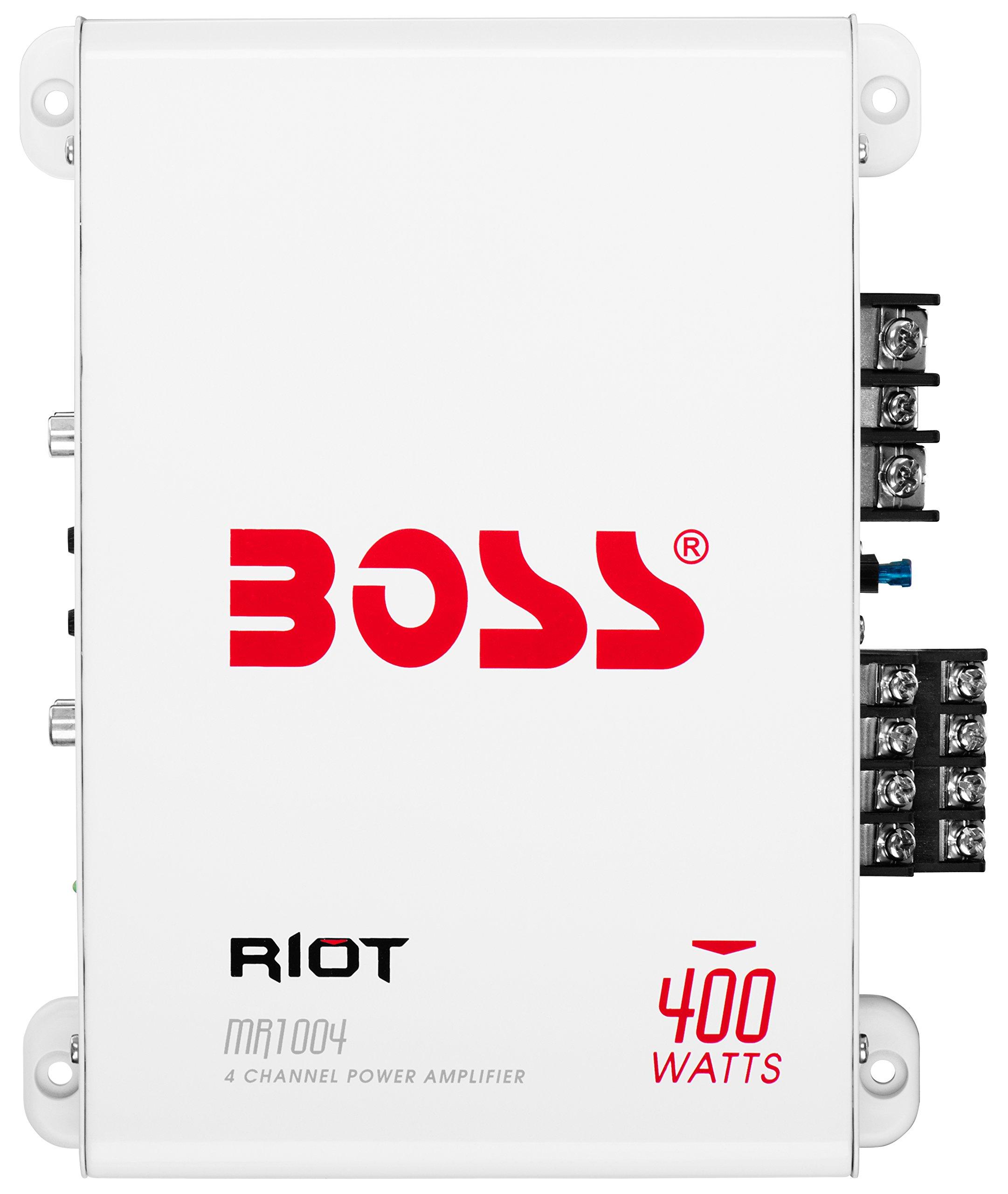 BOSS Audio MR1004 Marine Grade 400 Watt, 4 Channel, 2/4 Ohm Stable Class A/B, Full Range Amplifier