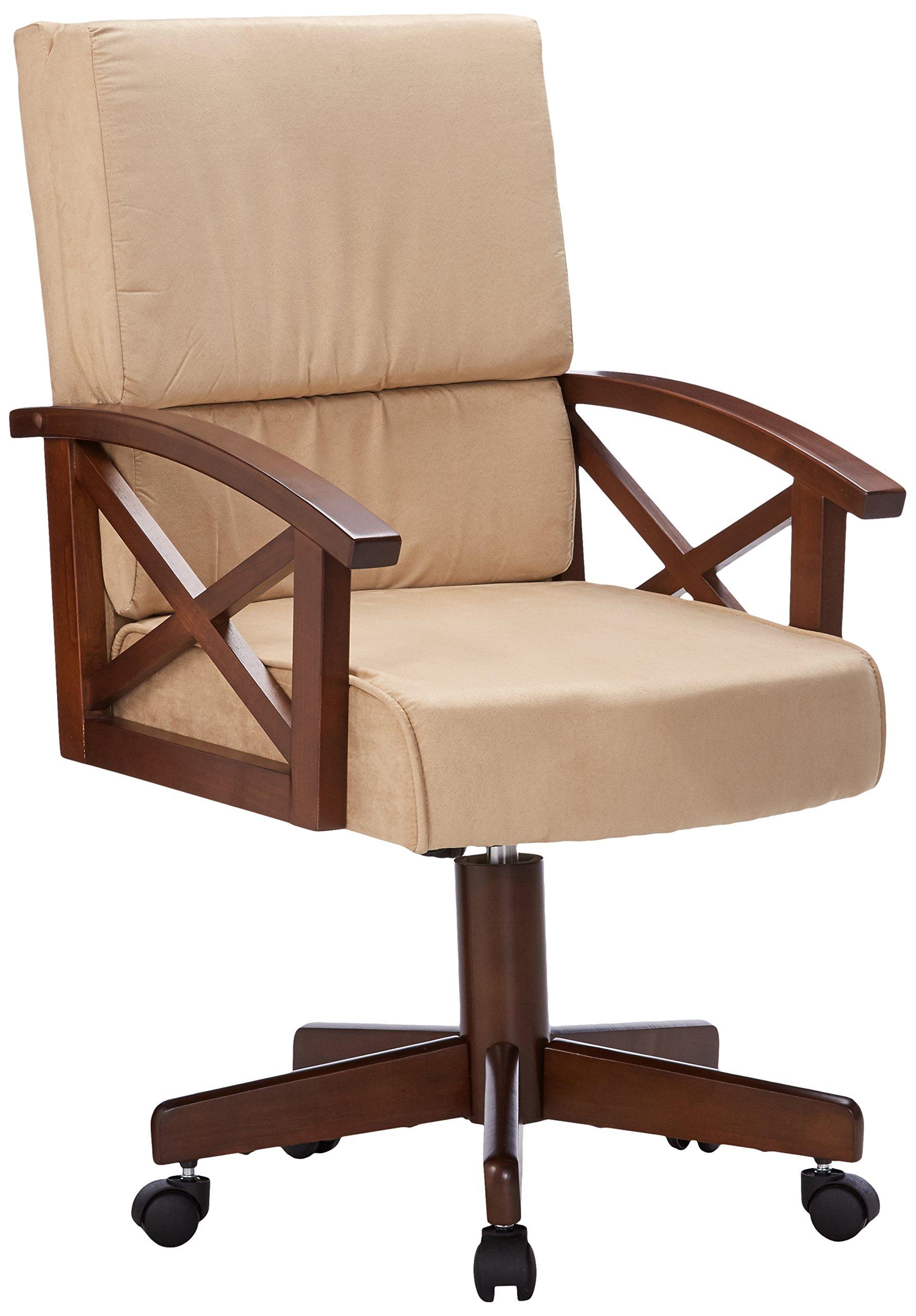 Coaster Home Furnishings Casual Game Chair, Oak/Beige