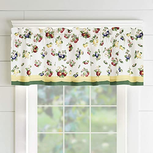 Villeroy and Boch French Garden Window Curtain Kitchen Valance, 60 x 15 1, Multi